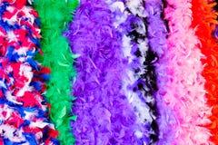 Boas de plumas coloridas Imagenes de archivo
