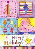 Boas festas cartão Fotos de Stock Royalty Free