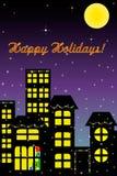 Boas festas cartão Imagens de Stock Royalty Free