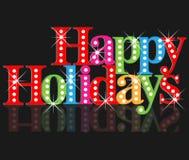 Boas festas cartão de cumprimentos Fotografia de Stock