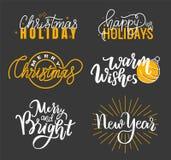 Boas festas, cumprimentos Natal brilhante alegre ilustração royalty free