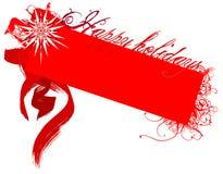 Boas festas emblema Ilustração do Vetor