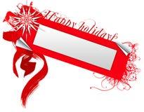 Boas festas emblema Ilustração Stock