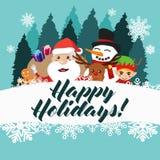 Boas festas ilustração do cartaz do cartão Foto de Stock Royalty Free