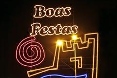 Boas Festas - lyckliga ferier Arkivbild