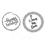 Boas festas rotulação da mão ilustração stock