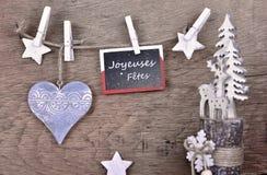 Boas festas sinal e decoração do Natal imagem de stock