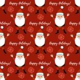 Boas festas teste padrão com Santa Claus Fotografia de Stock