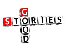 boas histórias das palavras cruzadas 3D no fundo branco Fotografia de Stock Royalty Free