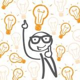 Boas ideias - ampolas ilustração do vetor