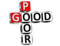 boas palavras cruzadas 3D pobres Fotografia de Stock Royalty Free