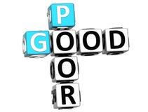 boas palavras cruzadas 3D pobres Imagens de Stock Royalty Free