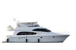 Boat. Yacht isolated on white background Stock Photography