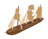 Boat. This is of the old boat Royalty Free Illustration