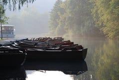 Boat. On plitvica lake in Croatia Stock Photos