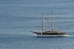 Boat. Yacht boat cruising at sea Stock Photos