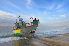 Boat. Fishing boat on baltic shore Stock Photography