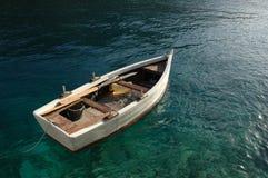 Boat. Wodden boat at sea Royalty Free Stock Photo
