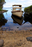 Boat. A picture of boat taken in Strahan, Tasmania - Australia Royalty Free Stock Images