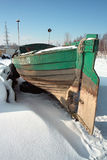Boat. The boat in winter scenery. Gdansk, Poland Royalty Free Stock Photos