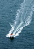 Boat. Speed boat runing on sea Royalty Free Stock Photos