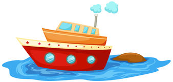 Boat. Illustration of isolated boat on white background Royalty Free Stock Image