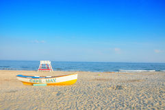 Boat. On Cape May Beach New Jersey Stock Image