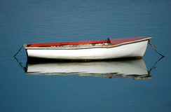 The Boat. A small boat moored along the river conwy, conwy, north wales Royalty Free Stock Photo
