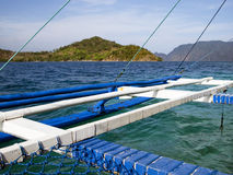 On a boat. Sailing on a Bangka in the Philippines Royalty Free Stock Image