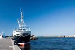 Boat. Fishing boat at the harbour stock photography
