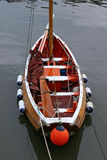 Boat. A well kept boat, anchored in the marina royalty free stock photography