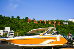 Boat. Speed boat serves tourists in Pattaya Stock Images
