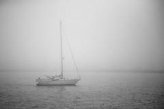 Boat. Sal boat in morning mist Stock Image