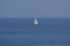 Boat. A small boat sailing on the sea Royalty Free Stock Images
