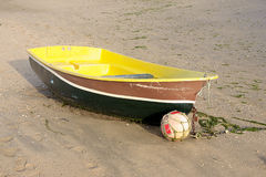 Boat. Fishing boat in the sand Stock Images