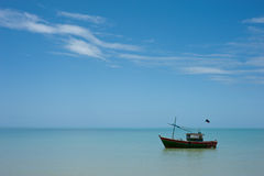 The boat. A boat, on very still water Royalty Free Stock Images