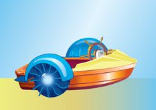 Boat. A plastic boat for the water attractions, vector image Stock Images