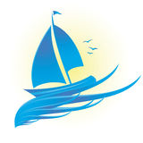 Boat. Cruise boat isolate great for logos,icon Royalty Free Stock Images