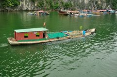 Boat. In the bay of Halong, Vietnam Stock Images