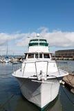 Boat. Luxury motor boat docked at Pier 39 San Francisco Royalty Free Stock Photography