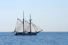 Boat. Old style sailing boat in Mediterranean sea Stock Image