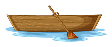 A boat. Illustration of a boat on a white background Stock Image