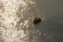 Boat. Mediterranean Sea sicily summer sunset Royalty Free Stock Photos