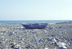 Boat. On a beach in Turkey stock photography