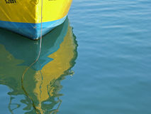 Boat. Yellow & blue boat Royalty Free Stock Photography