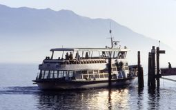 Boat. On lake Maggiore, Italy Stock Photography