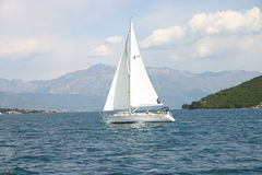 A boat. In Croatia. Adriatic Sea Stock Photo