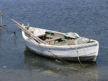 Boat. Old wooden boat on the sea Royalty Free Stock Photography