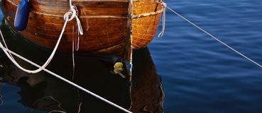 Boat. At the mooring royalty free stock image