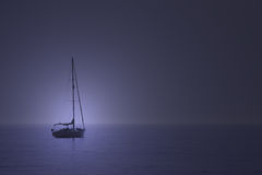 Boat. Blue boat Stock Photography